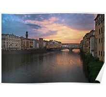 Florence - Sunset Poster