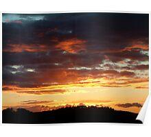 Hitchin Sunset Poster