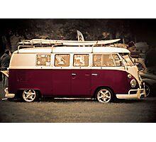 Camper van Surfs up Photographic Print