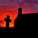 SACRED HEART SILHOUETTE  by MIKESANDY