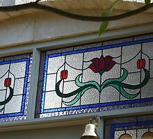 Stained glass panels by Maggie Hegarty