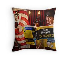 knife throwing for dummies Throw Pillow