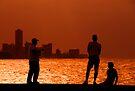 Fishing on the Malecon, Havana, Cuba by David Carton