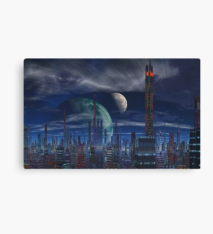 Above the Crowds Canvas Print