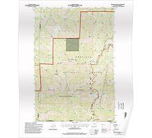 USGS Topo Map Washington Deadman Peak 240798 1995 24000 Poster