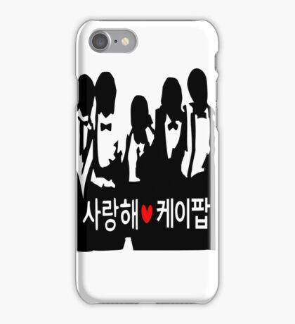 I LOVE KPOP in Korean txt Boys vector art  iPhone Case/Skin