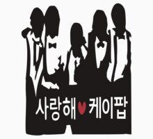 I LOVE KPOP in Korean txt Boys vector art  Kids Tee