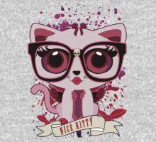 Nice Kitty - White & PInk Kids Tee