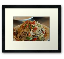 Thai salad Framed Print