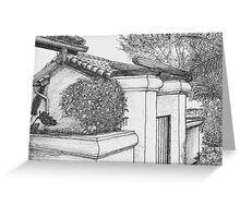 Villa Gate 4 Greeting Card