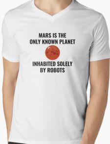 Mars Robot Mens V-Neck T-Shirt