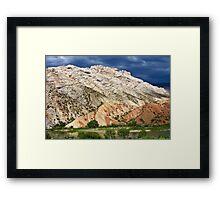 Split Mountain Stormclouds Framed Print