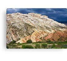 Split Mountain Stormclouds Canvas Print
