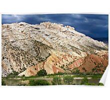 Split Mountain Stormclouds Poster
