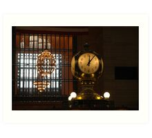 grand central station, clock Art Print