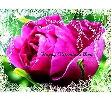 Roses and Jewels,Valentine card Photographic Print