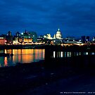 London Night Line - Southbank view of St. Pauls Cathedral by newshamwest
