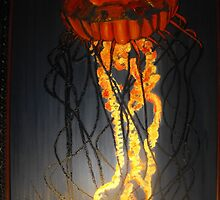 Jellyfish Oil Painting by Crystal Fobare