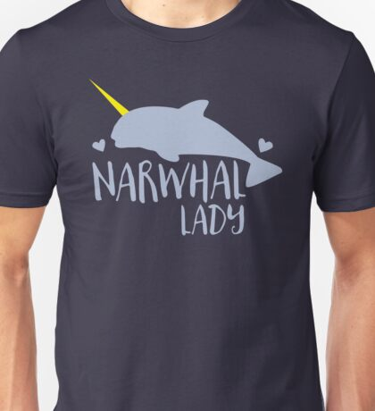 Narwhal lady Unisex T-Shirt