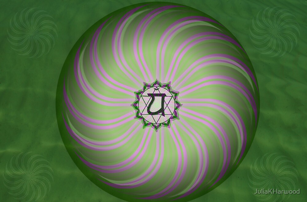 Heart Chakra ~ Green ~ Anahata ~ Female by Julia Harwood