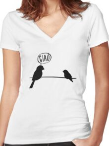 Italian birds Women's Fitted V-Neck T-Shirt