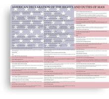 American Declaration of the Rights and Duties of Man Light Background Canvas Print