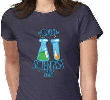 Crazy Scientist lady Womens Fitted T-Shirt