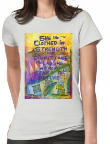 Being Clothed in STRENGTH Womens Fitted T-Shirt