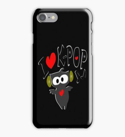 I love kpop owl vector art iPhone Case/Skin
