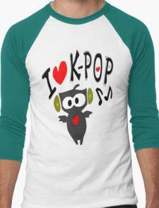 I love kpop owl vector art Men's Baseball ¾ T-Shirt