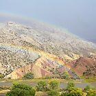 Double Rainbow at Split Mountain by Kim Barton