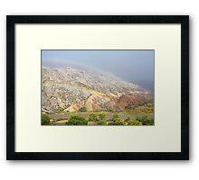 Double Rainbow at Split Mountain Framed Print