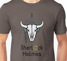 Sherlock - Cow skull (black text) Unisex T-Shirt
