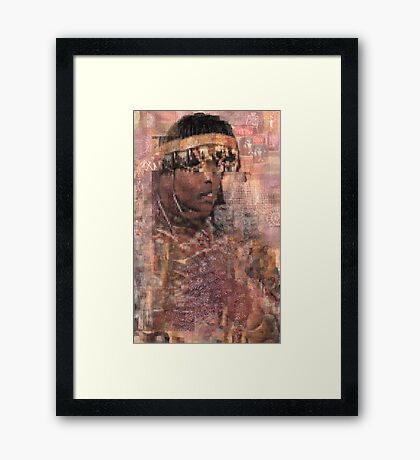 Pictograph Queen Framed Print