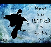 My art work has been featured in Raven Heart's Group by Rookwood Studio ©