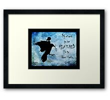 My art work has been featured in Raven Heart's Group Framed Print