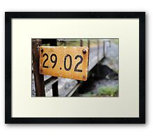 Frak the rack Framed Print