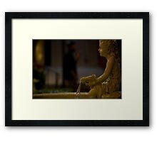 angel in the dark Framed Print
