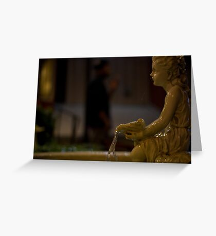 angel in the dark Greeting Card