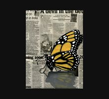 Butterfly on my Newspaper Unisex T-Shirt