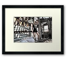 pretty in the ugly Framed Print