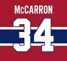 Montreal Canadiens Michael McCarron Jersey Back Phone Case by Russ Jericho