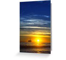 Beach Sunset - Dog's Beach Greeting Card