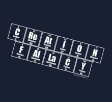 Creation Fallacy White Text by Geek Shirts