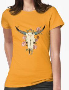 Desert Skull Womens Fitted T-Shirt