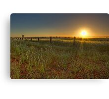 Sunset at Parkes • New South Wales • Australia Canvas Print