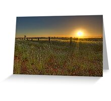 Sunset at Parkes • New South Wales • Australia Greeting Card