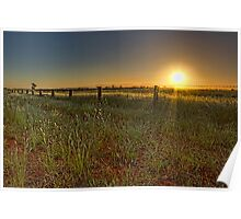 Sunset at Parkes • New South Wales • Australia Poster