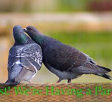 pigeons party invite by dedmanshootn