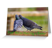 pigeons party invite Greeting Card